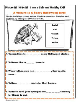 Halloween Stories and Sentences Bundle