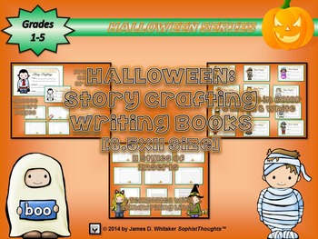 Halloween Story Crafting Writing Book (8.5x14 Legal Size)