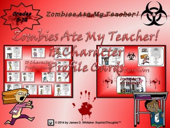 Halloween Story Crafting Zombies Ate My Teacher! Mega Bundle