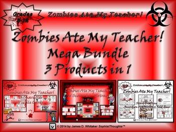 Halloween Story Crafting Zombies Ate My Teacher! Mega Bundle