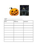 Halloween Story Elements
