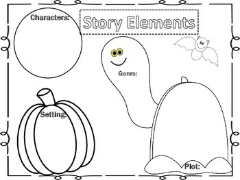 Halloween Story Elements Organizer