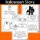Halloween Story Mini Book! Read and Color-- With speech bubbles!