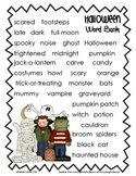 Halloween Story Paper and Word Bank