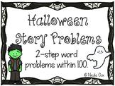 Halloween Story Problem Task Cards - Multi-Step Problems