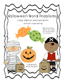 Halloween Story Problems - 2 Digit w/o Regrouping