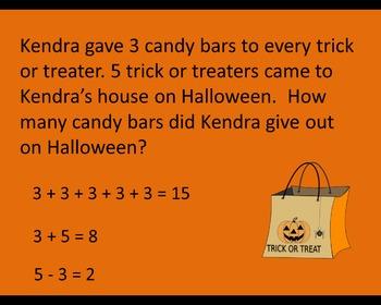 Halloween Story Problems