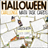 Halloween Math Story Problems Challenge