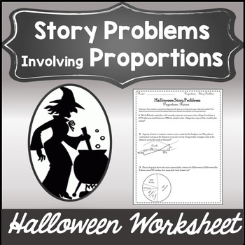 Solving Proportions Activity with Word Problems {Halloween Algebra 1 Worksheet}