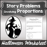 Halloween Algebra 1 Worksheet {Solving Proportions Activity with Word Problems}