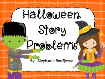 Halloween Story Problems (Add to, Take from, Compare, Unkn