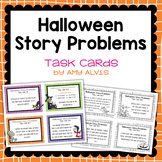 Story Problem Task Cards Halloween
