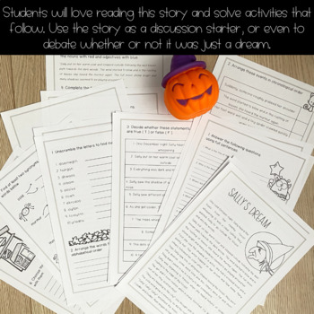 A Halloween Story-Reading Comprehension+Vocabulary - #Halloween2017