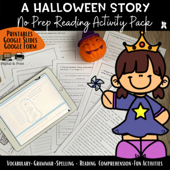 A Halloween Story-Reading Comprehension+Vocabulary - #Halloween2018