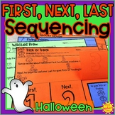 Halloween Story Retelling and Sequencing Flap Books | First, Next, Last