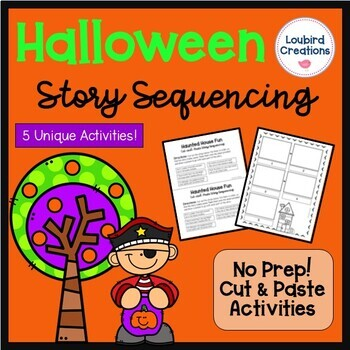 Halloween Story Sequencing Cut & Paste