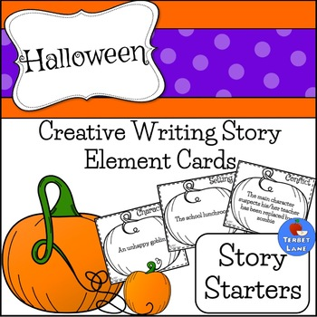 Halloween Story Elements Creative Story Starter Writing Prompt Cards