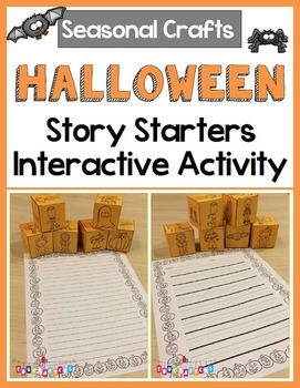 Halloween Story Starter Dice Set FREEBIE - Seasonal Crafts
