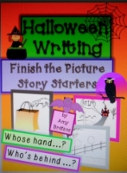 Halloween Story Starter Writing Prompts-Finish the Picture and Write a Story