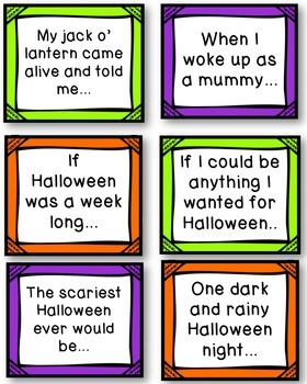 Halloween Story Starters - Writing Papers and Prompts