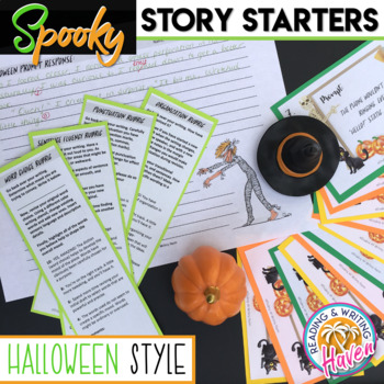 Halloween Story Starters and Narrative Leads Writing Prompt Activity