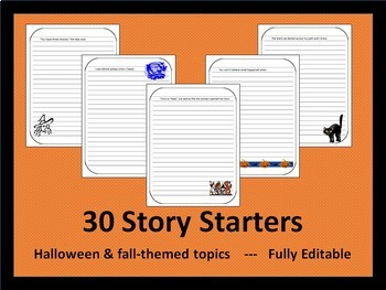 Halloween Story Starters for Middle and High School Students