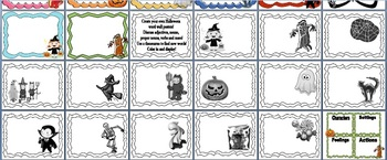 Halloween Narratives Writing Kit with Papers and Story Starters