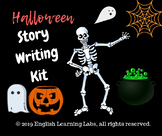 Halloween Story Writing Kit ( stationery, prompts, rewards