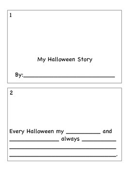 Halloween Story- fill in the blank