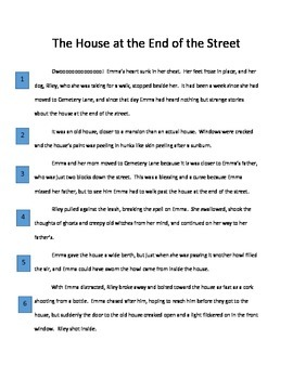 Halloween Reading Passage with Questions: The House at the End of the Street