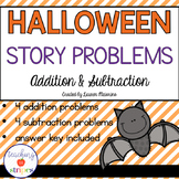 Halloween Addition and Subtraction Story/Word Problems