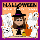 Halloween NO PREP Printables - Third Grade Common Core Math and Literacy