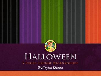 Halloween Stripe Backgrounds II by Toya's Studios