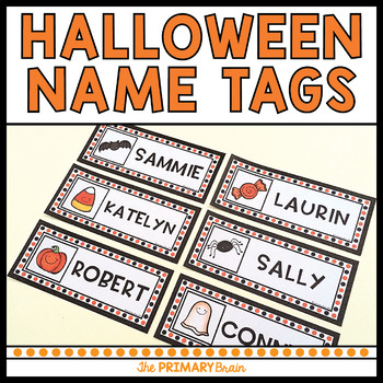 Halloween Student Bulletin Board Name Tags Freebie