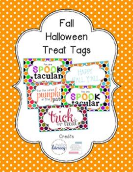 Halloween Student Gift Tag BUNDLE