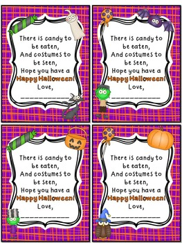 Halloween Student Gift Tags