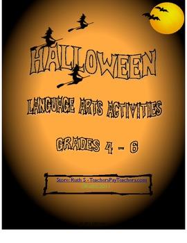 Halloween Student Worksheets Language Arts