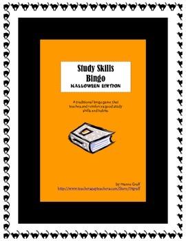 Study Skills Bingo - Halloween Edition