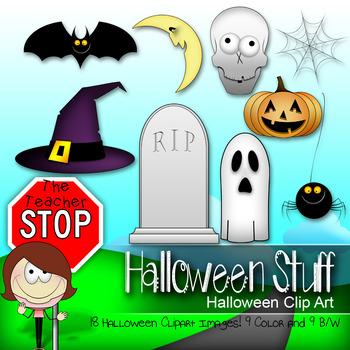 Halloween Stuff Clipart {The Teacher Stop}