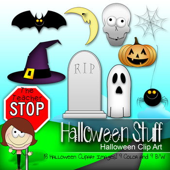Halloween Stuff Clipart {The Teacher Stop}