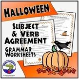 Halloween Grammar Worksheet Subject Verb Agreement