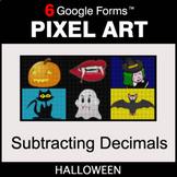 Halloween: Subtracting Decimals - Pixel Art Math   Google Forms