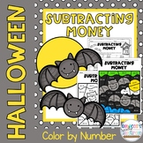 Halloween Subtracting Money Color by Number