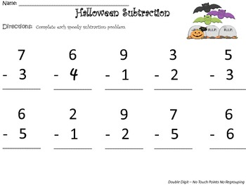 Halloween Subtraction