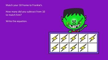 Halloween Subtraction 10 Frame