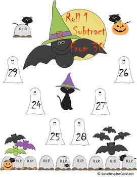 Halloween Subtraction Bump Game