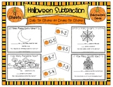 Halloween Subtraction Dab or Draw to Show