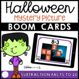Halloween Subtraction Math Facts Boom Cards™ Distance Learning