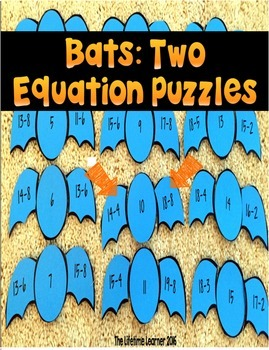 Halloween Subtraction Math Puzzles