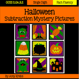 Halloween Subtraction Mystery Pictures